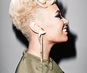 blonde, earrings, and fashion image