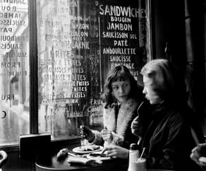 black and white, cafe, and paris image