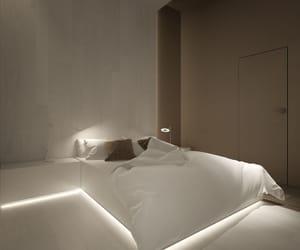 bedroom, white, and minimalist image