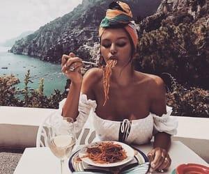 girl, food, and travel image