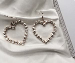 pearls, fashion, and heart image