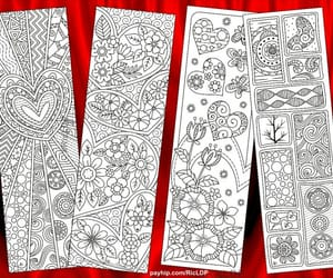 bookmarks, drawing, and coloring image