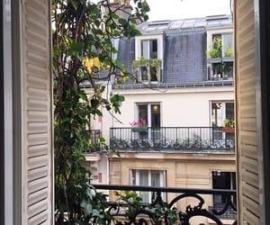 architecture, paris, and balcony image