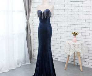 long dress, formal dresses, and velour dress image