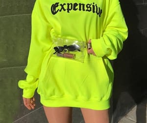 neon, hoodie, and style image
