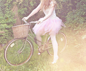 bike, girl, and pink image