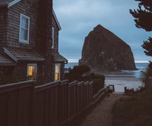 house, places, and ocean image
