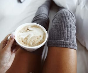 fashion, coffee, and cozy image