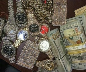 money, watch, and luxury image