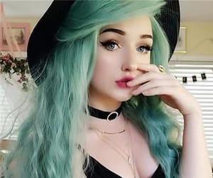 colored hair, hair, and long hair image