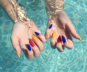 blue, hands, and nails image