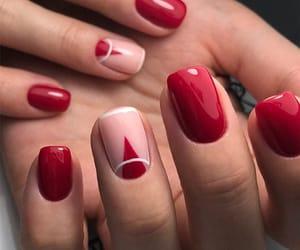 nail polish, nails, and red nails image