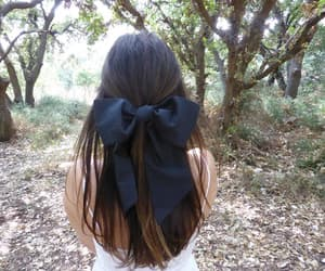 black bow, hair style, and bow image