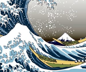 art, waves, and wallpaper image