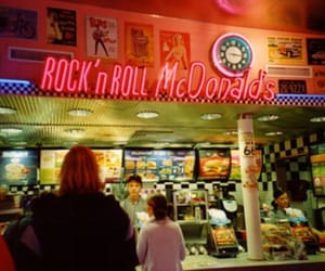 90s, neon, and mcdonald's image