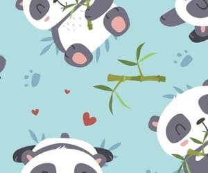 wallpaper, background, and panda image