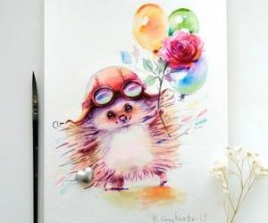 acuarela, arte, and colores image