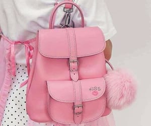 aesthetic, backpack, and pink image