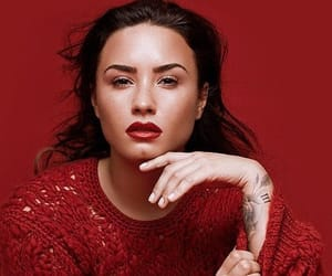 demi lovato and red image