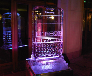 blackberry, ice, and ice sculpture image