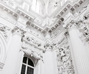 white, architecture, and vintage image