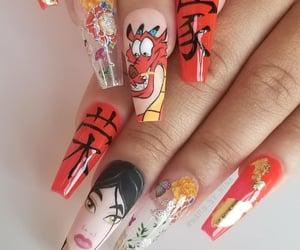 disney, mulan, and nail art image