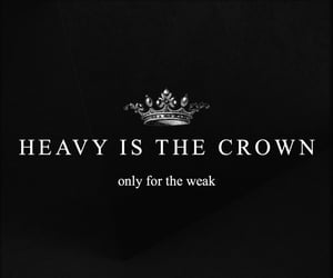 quotes, black, and crown image