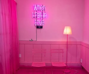in love, pink room, and all pink image
