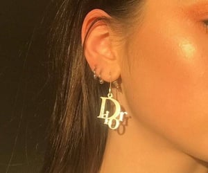 dior, earrings, and aesthetic image