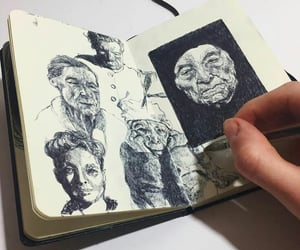 art, draw, and people image