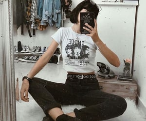 emo, fashion, and outfit image