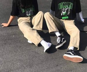 couple, green, and shoes image