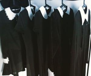 dress, black, and goth image