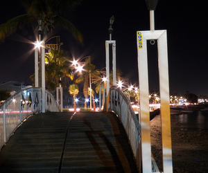 bridge, deck, and Noche image