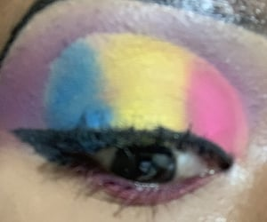 bright, colorful, and eyeshadow image