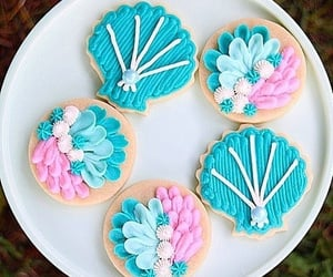 blue, Cookies, and galletas image