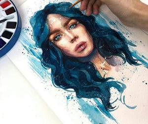 blue, draw, and paint image
