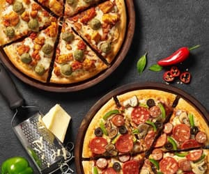 cheese, pizza, and family image