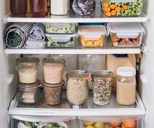 food, fridge, and fruit image