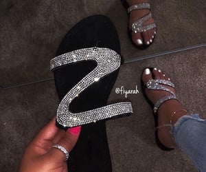 shoes, bling, and sandals image