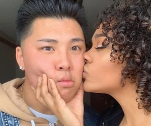 interracial couple, interracial love, and blasian image