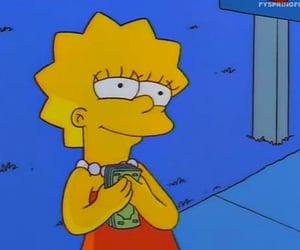 money, simpsons, and lisa simpson image