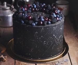 black cake and berry cake image