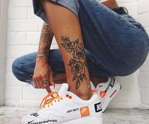 tattoo, jeans, and nike image