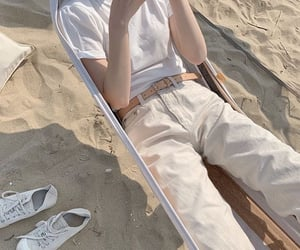 beach, beige, and fashion image