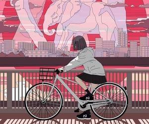 art, city, and elephant image