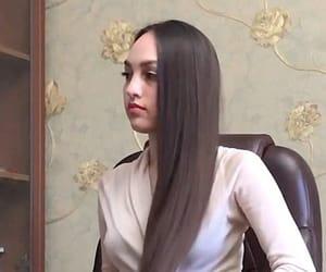 fashion, long hair, and hair image