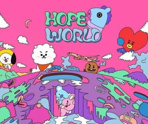 bts, jhope, and hope world image