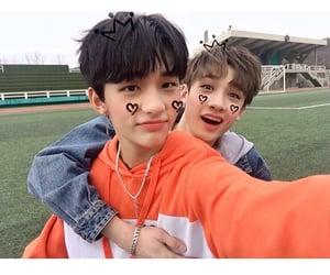 stray kids, Chan, and hyunjin image