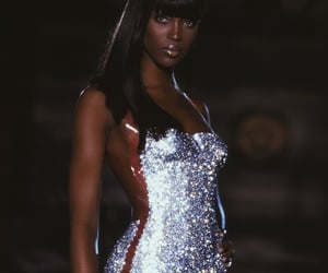 Naomi Campbell, model, and dress image